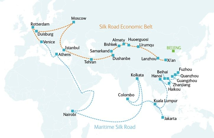 large silk road map