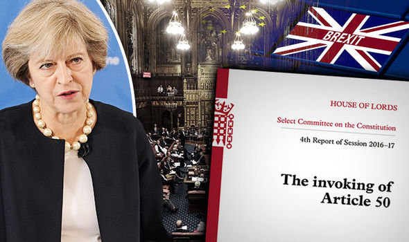 Theresa May and Brexit Article 50