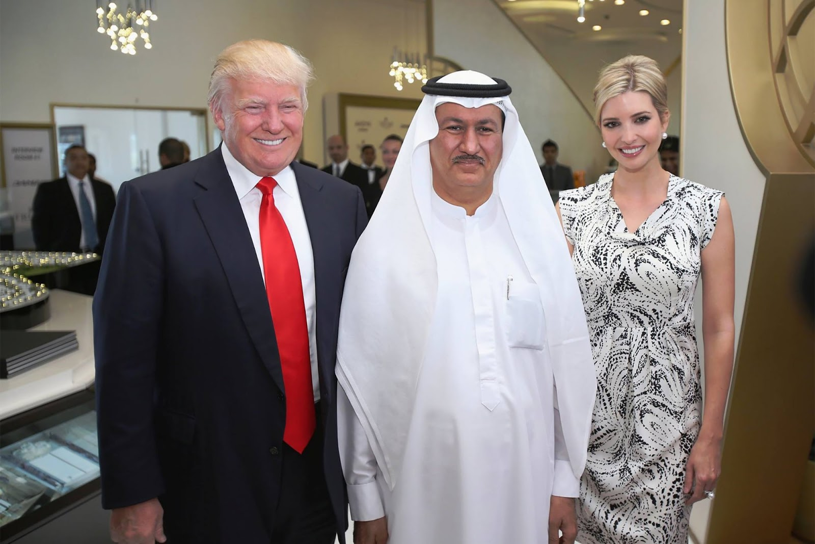 Trump with Middle East