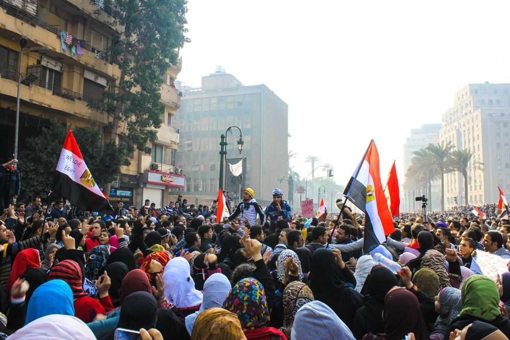 egyptian people demonstrate