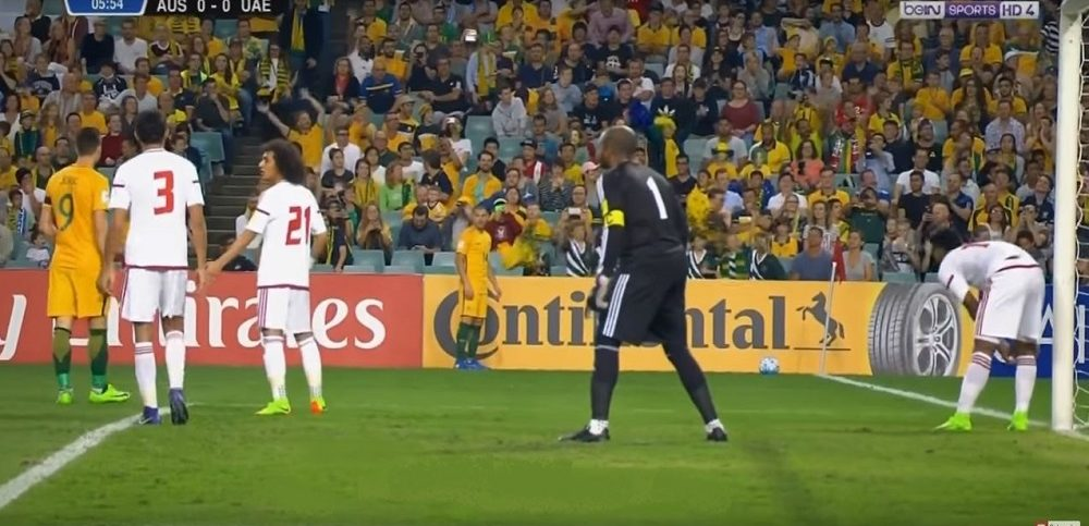 uae concede the first goal agains australia - alvexo