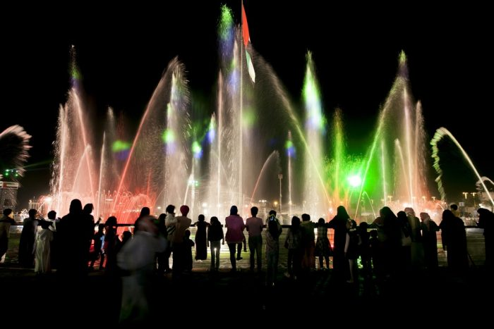 lights and a show in UAE