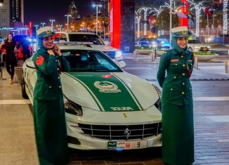 happy dubai police women