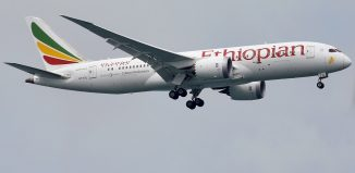 An Ethiopian Airlines Boeing